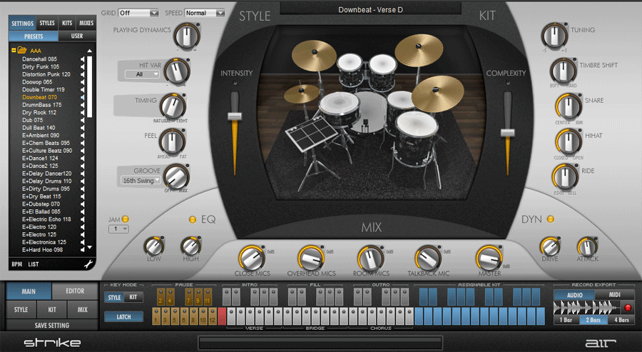 Strike, Structure, Transfuser (Pro Tools Instruments) goes